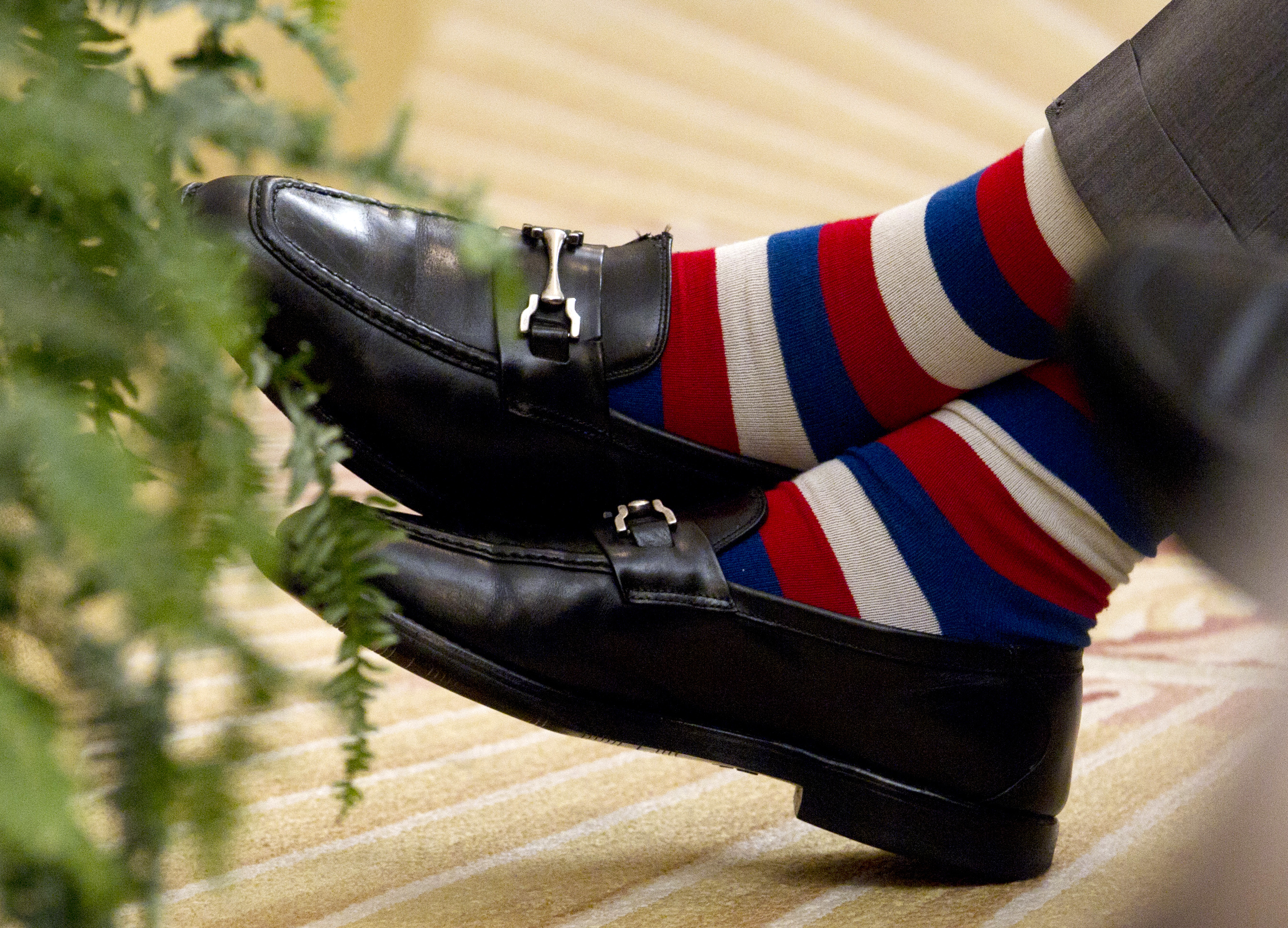 President George H.W. Bush's Choice Of Bold, Whimsical Socks Made Him A Style Icon
