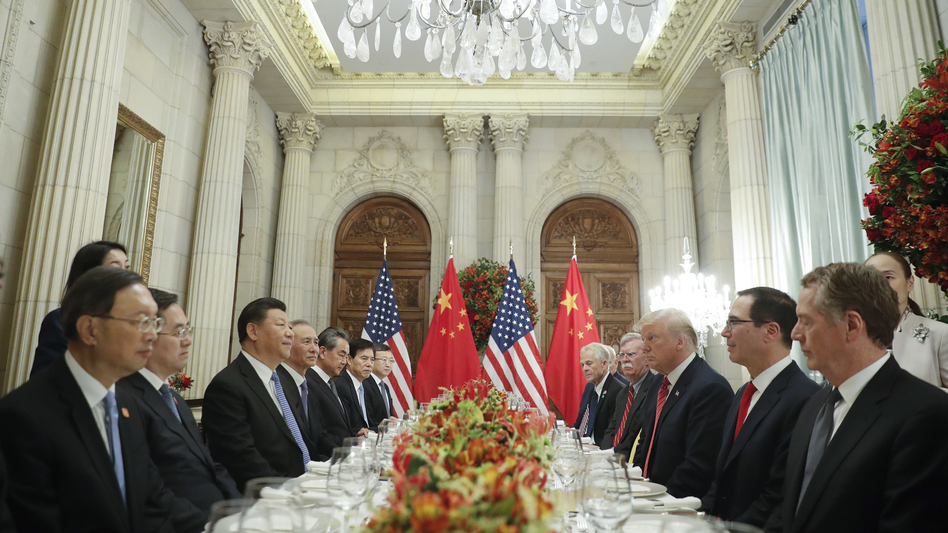 President Trump and Chinese President Xi Jinping agreed Saturday to a 90-day halt on new tariffs, hailed as a cease-fire in the countries' trade war. (Pablo Martinez Monsivais/AP)