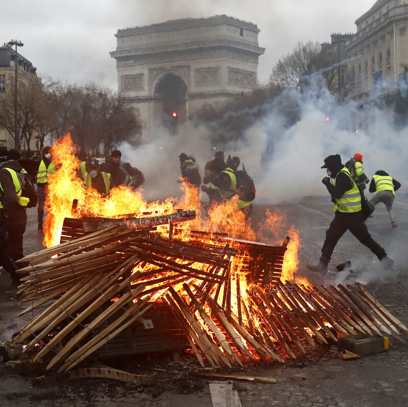 Image result for Armoured vehicles, paris, yellow vest, pictures