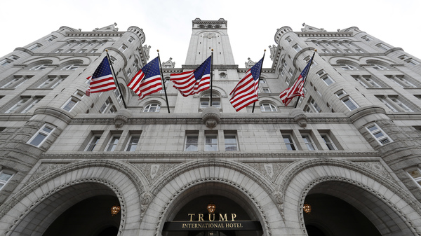 A December 2016 file photo of the Trump International Hotel in downtown Washington, D.C. The lawsuit is at the center of a lawsuit brought by Maryland and the District of Columbia governments against President Trump, arguing that his stake in the hotel violates the Constitution
