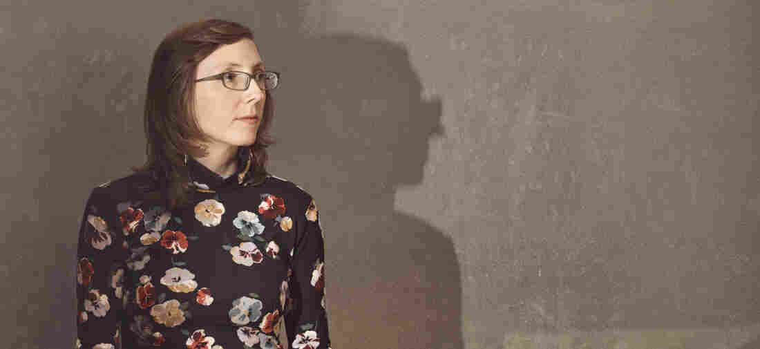 Mary Halvorson, guitarist, stands for a portrait prior to a performance with her band Code Girl, at The Andy Warhol Museum in Pittsburgh, PA on March 7, 2018.