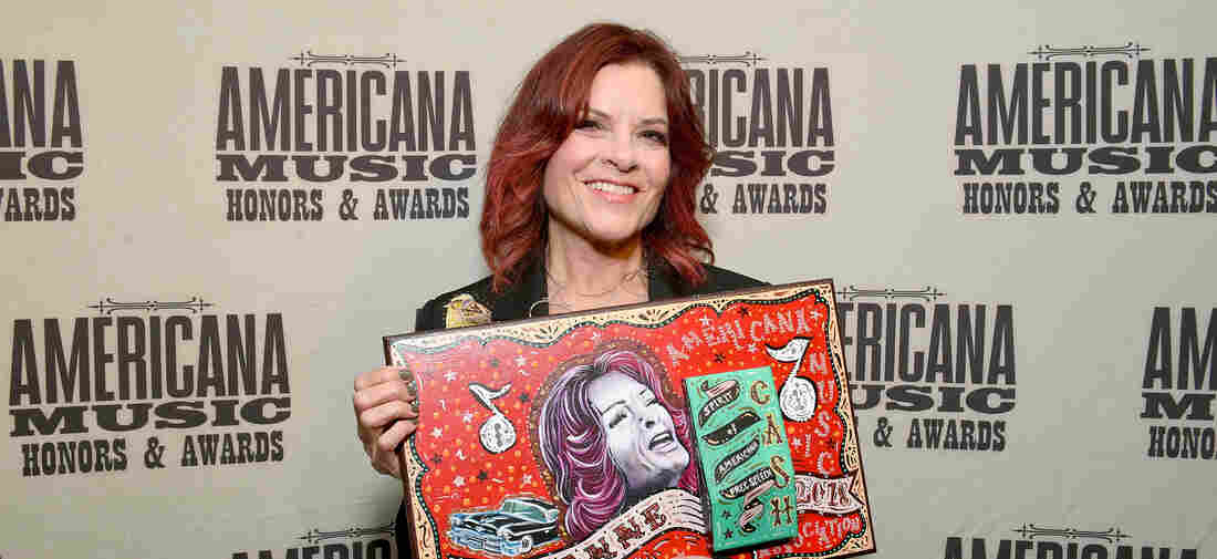 Rosanne Cash backstage during the 2018 Americana Music Honors and Awards at Ryman Auditorium on September 12, 2018 in Nashville, Tennessee.