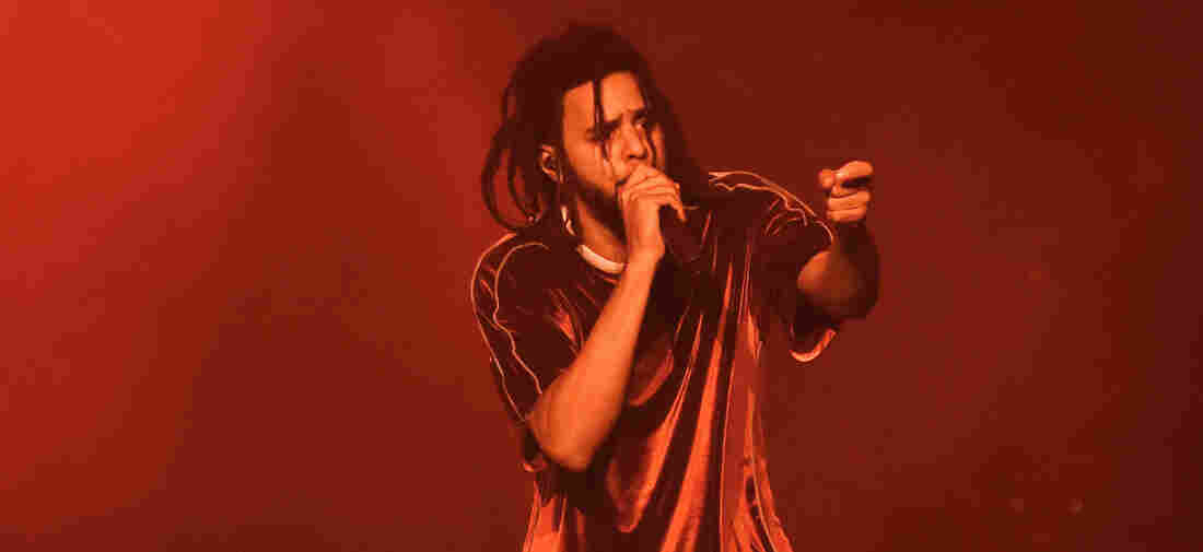 J. Cole performs onstage at J. Cole In Concert at Madison Square Garden on October 1, 2018 in New York City.
