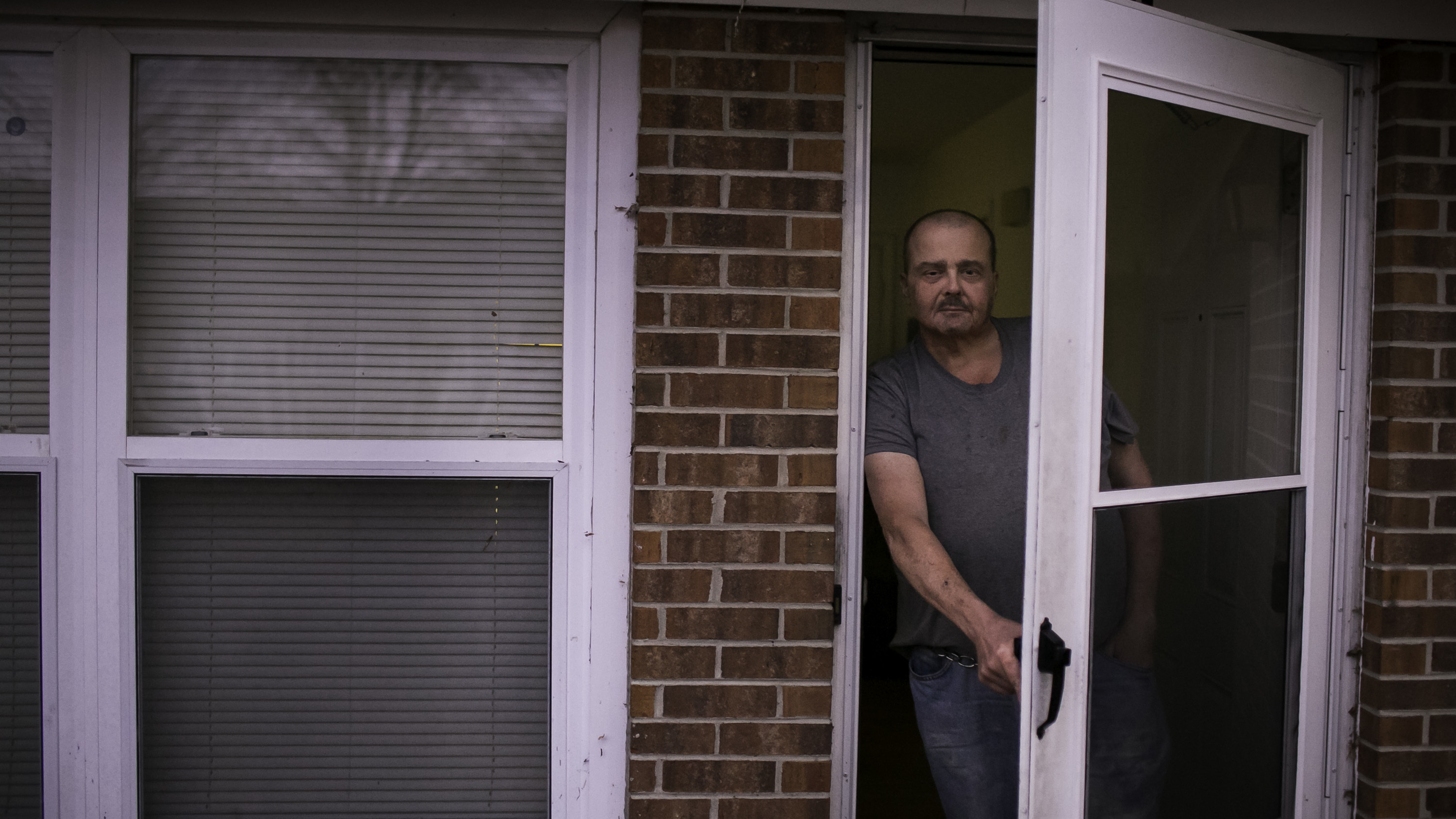 Stacy Holcomb 57 stands in front of his home in Bladenboro N.C. where he says he was approached by a woman during the midterm elections and offered assistance submitting an absentee ballot an occurrence that many in Bladen County have said happened