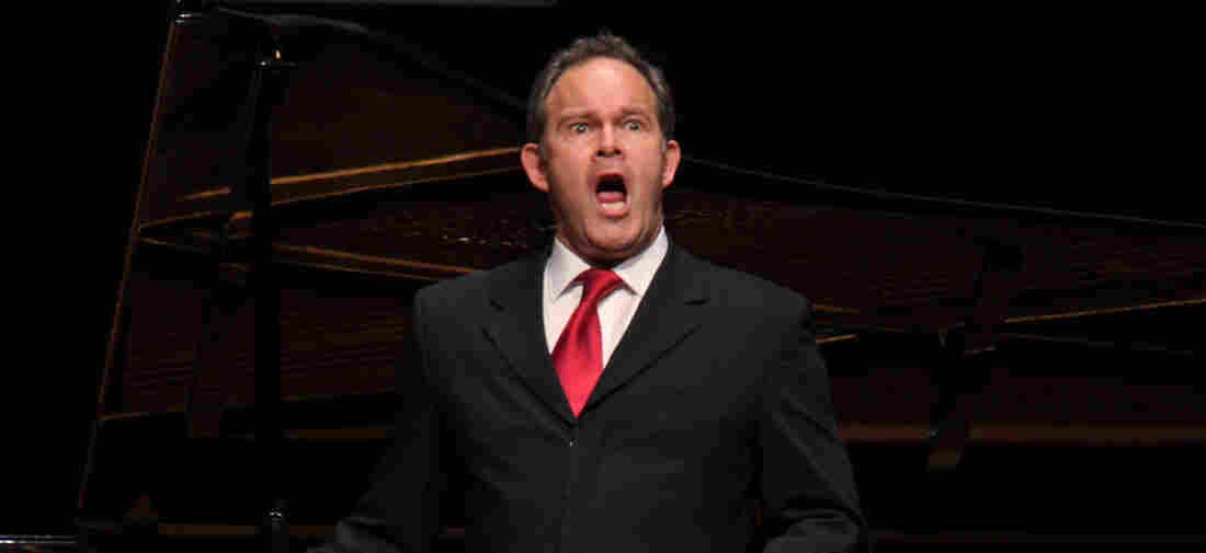 The bass-baritone Gerald Finley, accompanied by the pianist Julius Drake, performed the songs by Beethoven, Schubert, Tchaikovsky and Rachmaninoff at Alice Tully Hall on Wednesday night, May 2, 2018.