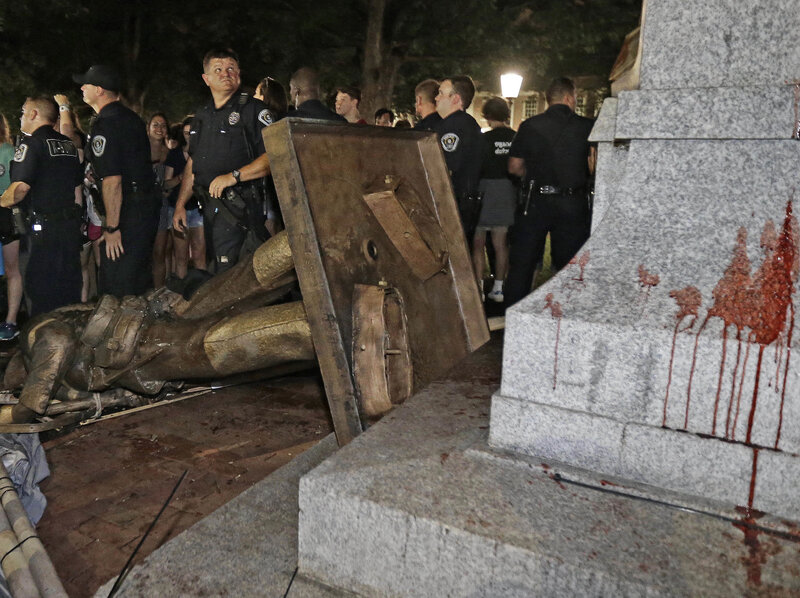 A Confederate Statue Continues To Stir Unrest At Uncchapel Hill  Npr A Confederate Statue Continues To Stir Unrest At Uncchapel Hill In An Essay What Is A Thesis Statement also Friendship Essay In English  Essay On Importance Of English Language