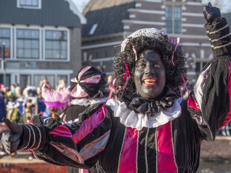 a dutch holiday tradition protesting a christmas character in