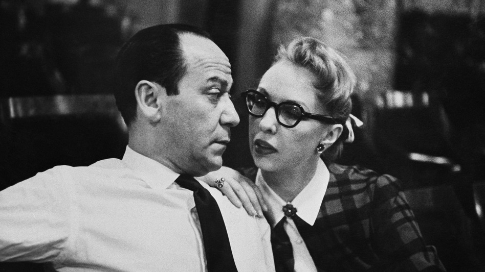 "Composer Frank Loesser with his wife and musical partner, Lynn Garland, in 1956 in New York. Decades later, Loesser's ""Baby, It's Cold Outside"" is being banned by radio stations."
