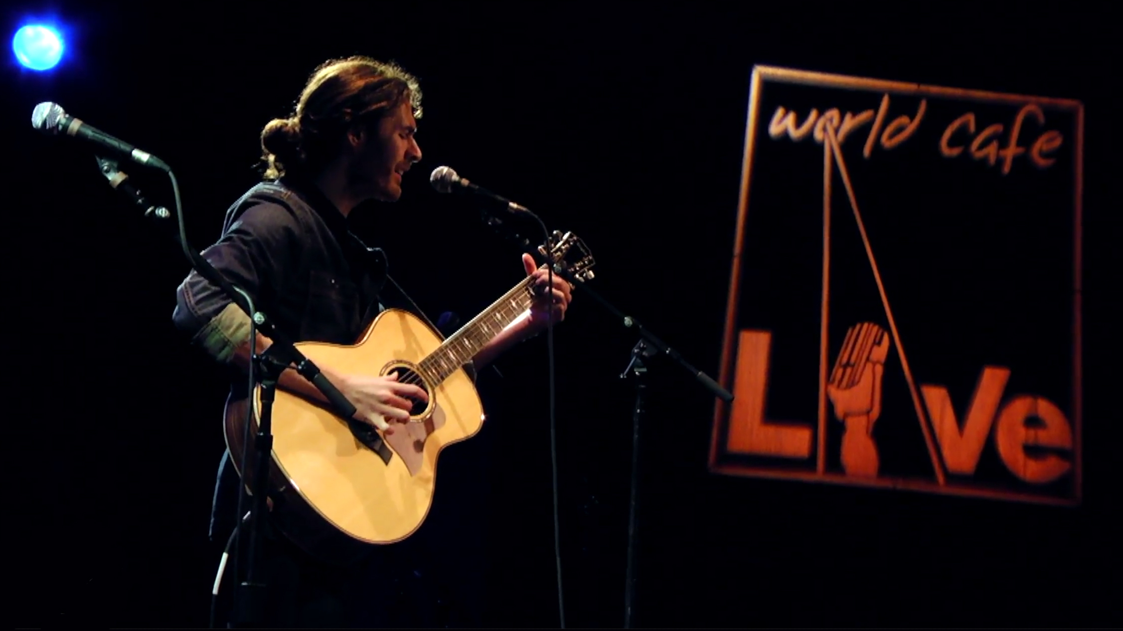 Hozier performing live during this World Cafe Session
