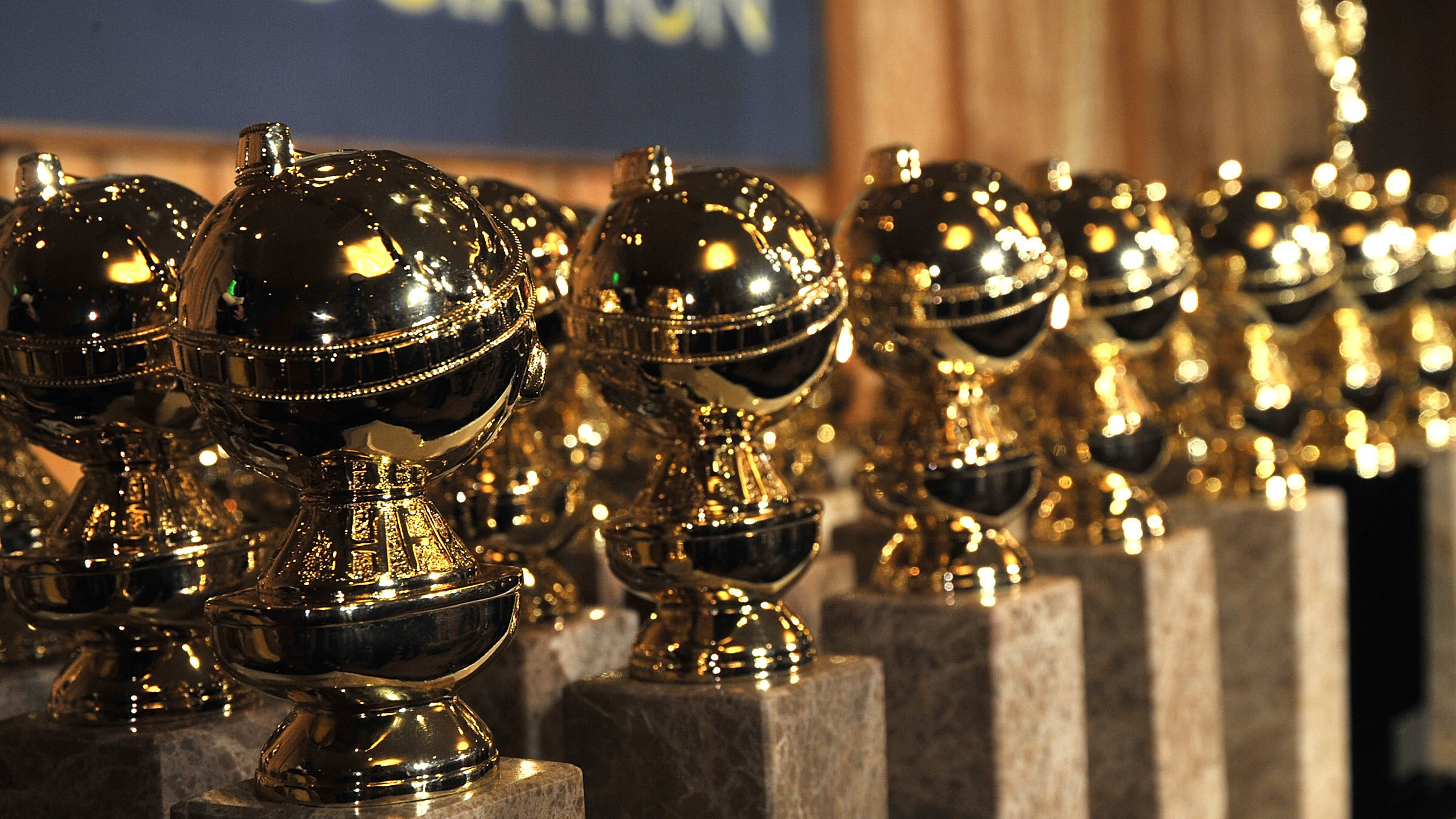 Golden Globe statuettes, seen here in 2009, will be handed out again on January 6 to nominees announced today.