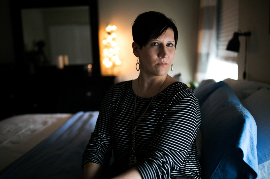 Angela Lautner, who lives in Elsmere, Ky., has Type 1 diabetes and is an advocate for affordable insulin. (Maddie McGarvey for NPR)
