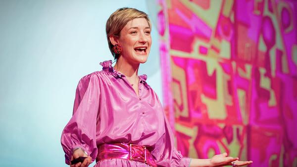 Jessi Arrington on the TED stage.