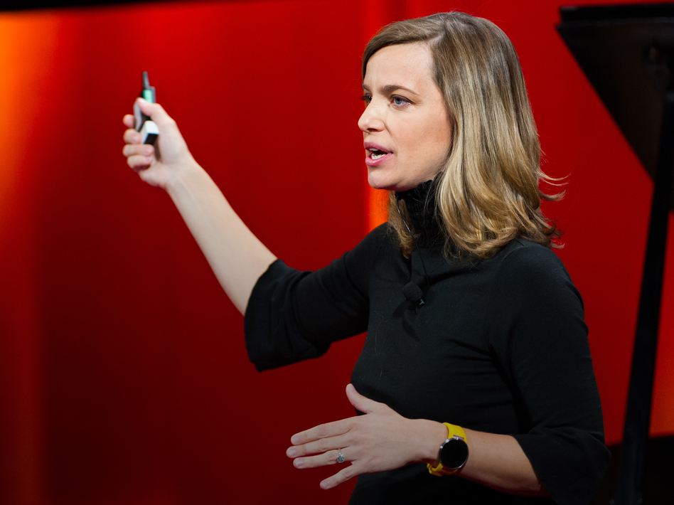 Kate Orff on the TED stage (James Duncan Davidson/TED)