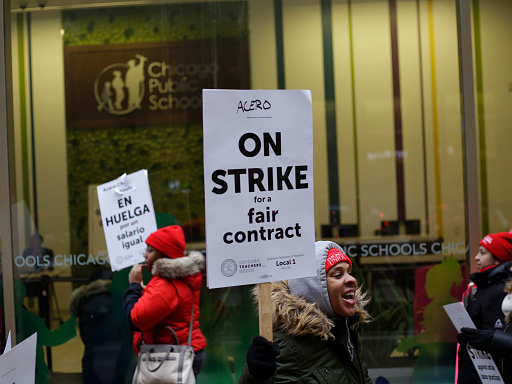 Chicago's Charter Schools Go On Strike, Troubled For-Profit College Closes Campuses