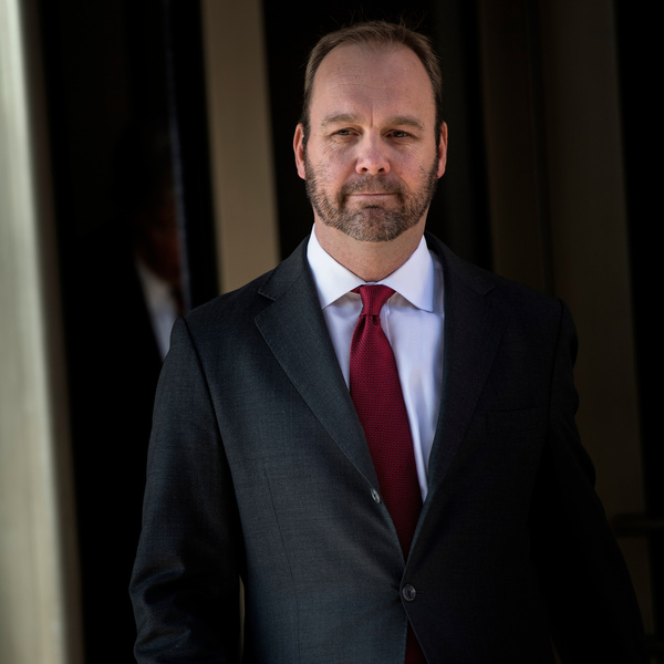 Former Trump campaign official Rick Gates leaves federal court in Washington, D.C., on Dec. 11, 2017.