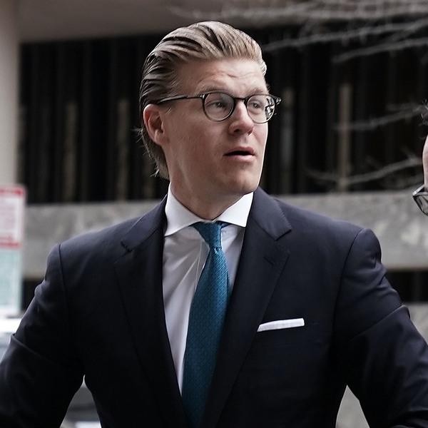 Alex van der Zwaan arrives at a U.S. district courthouse in Washington, D.C., for his sentencing on April 3, 2018.