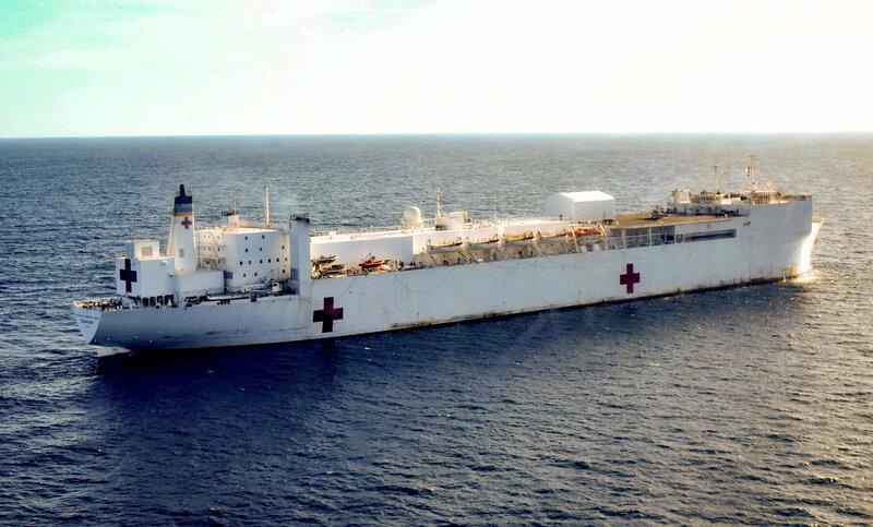 U S  Navy Sends Hospital Ship To Colombia To Treat Venezuelan