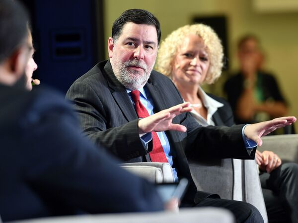 Pittsburgh Mayor Bill Peduto at a city climate action event in San Francisco in September. Peduto is representing U.S. mayors at the United Nations climate meeting underway in Katowice, Poland, this week.