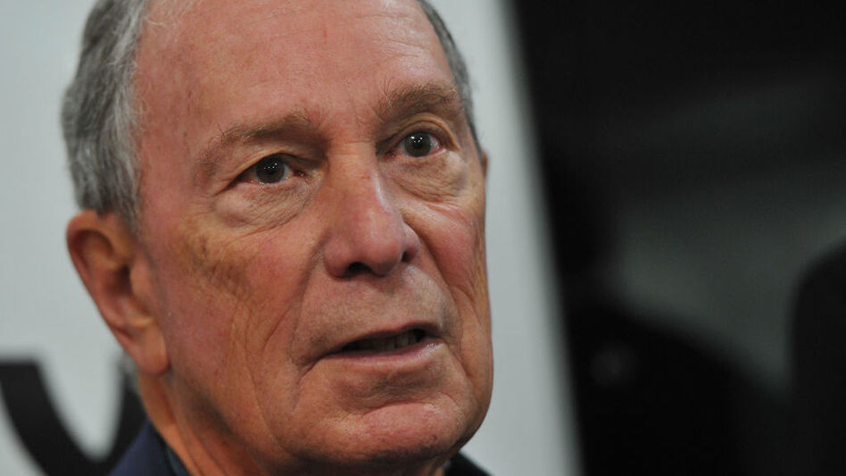"""Former New York City Mayor Michael Bloomberg called President Trump """"a threat to our country"""" but warned, """"We cannot allow the primary process to drag the party to an extreme that would diminish our chances in the general election"""" and give Trump four more years. (Steve Pope/Getty Images)"""
