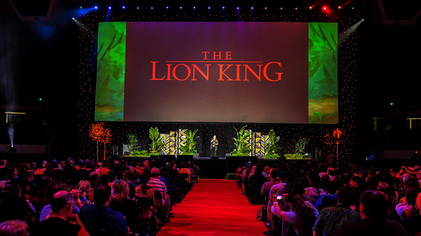 """""""The Lion King,"""" released in 1994 and one of the top grossing U.S. films of all time, is celebrated at a Disney fan event in Anaheim, Calif."""