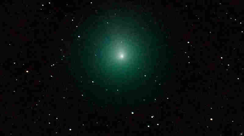 Green 'Christmas Comet' Visible In Night Sky