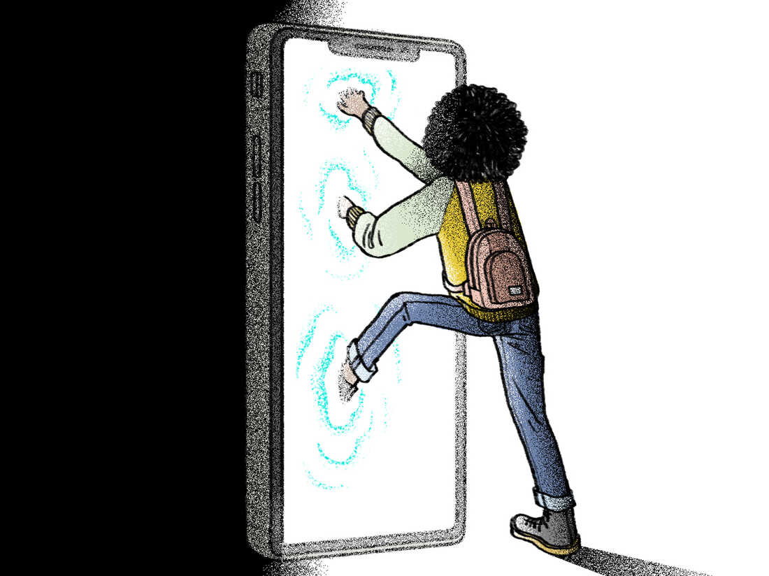 Teens and phone addiction.
