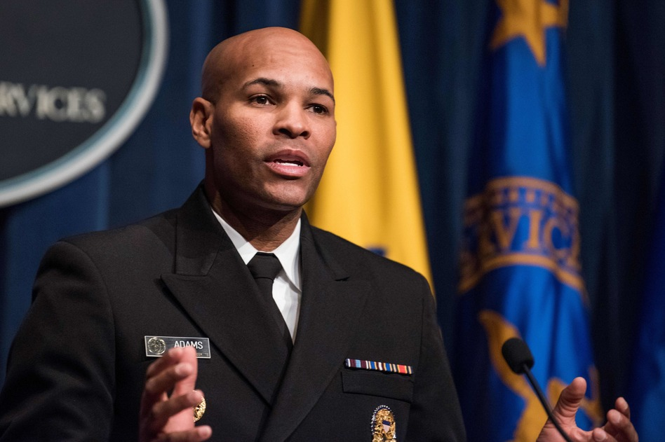 U.S. Surgeon General Dr. Jerome Adams said Tuesday that local restrictions, including bans on indoor vaping, are needed to reduce youth e-cigarette use. (Eric Baradat/AFP/Getty Images)