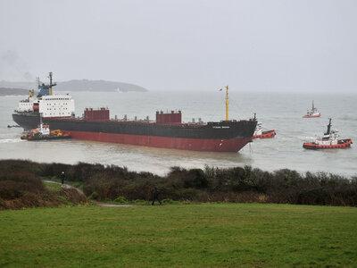 Russian Cargo Ship Runs Aground In U.K.