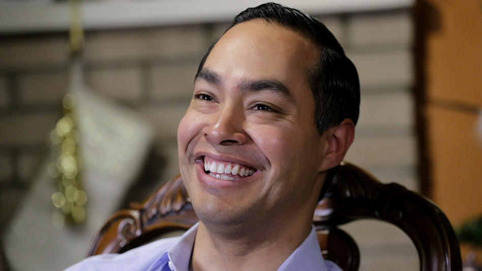 Democrat Julián Castro talks about exploring the possibility of running for president in 2020, at his home in San Antonio in December 2018. (Eric Gay/AP)