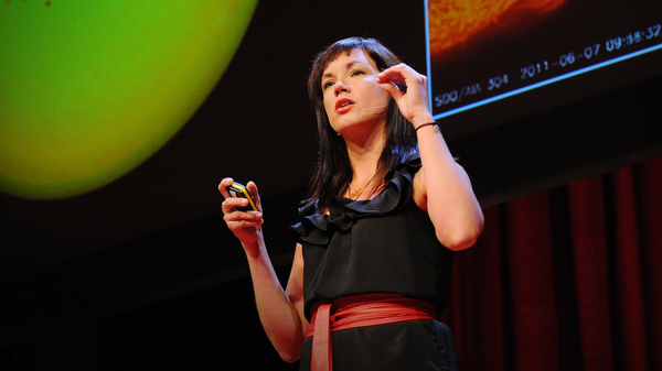 Lucianne Walkowicz on the TED stage.