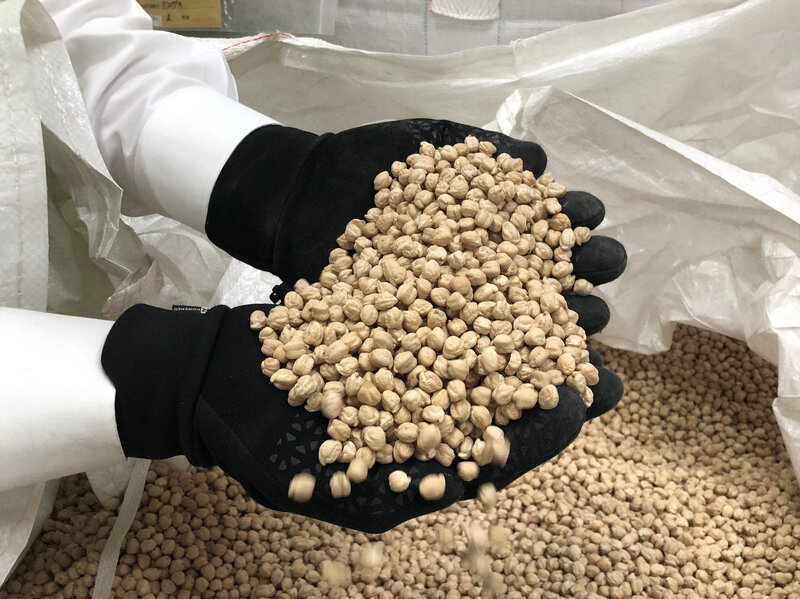 Chickpeas Sit In Silos As Trump's Trade Wars Wage On : NPR