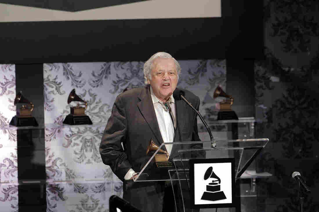 Violinist Robert Mann, accepting a Recording Academy Lifetime Achievement award on behalf of the Juilliard String Quartet in Los Angeles in 2011.