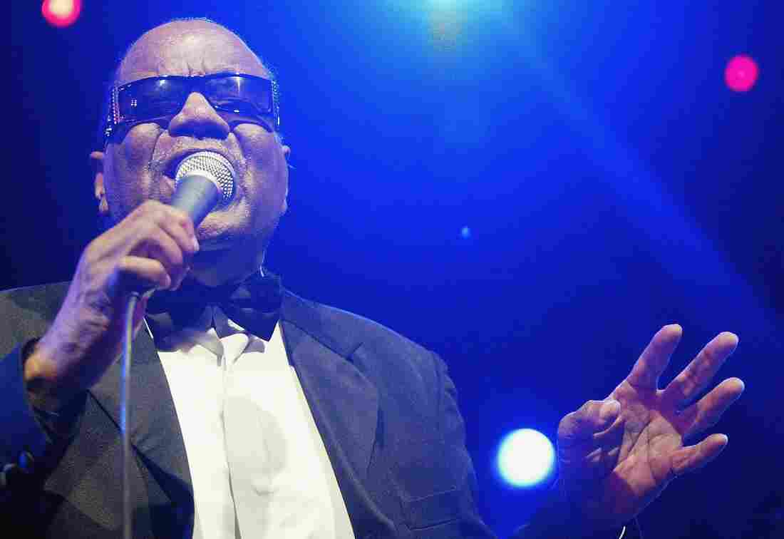 Clarence Fountain performs with the Blind Boys of Alabama during the East Coast International Blues and Roots Music Festival in 2006.