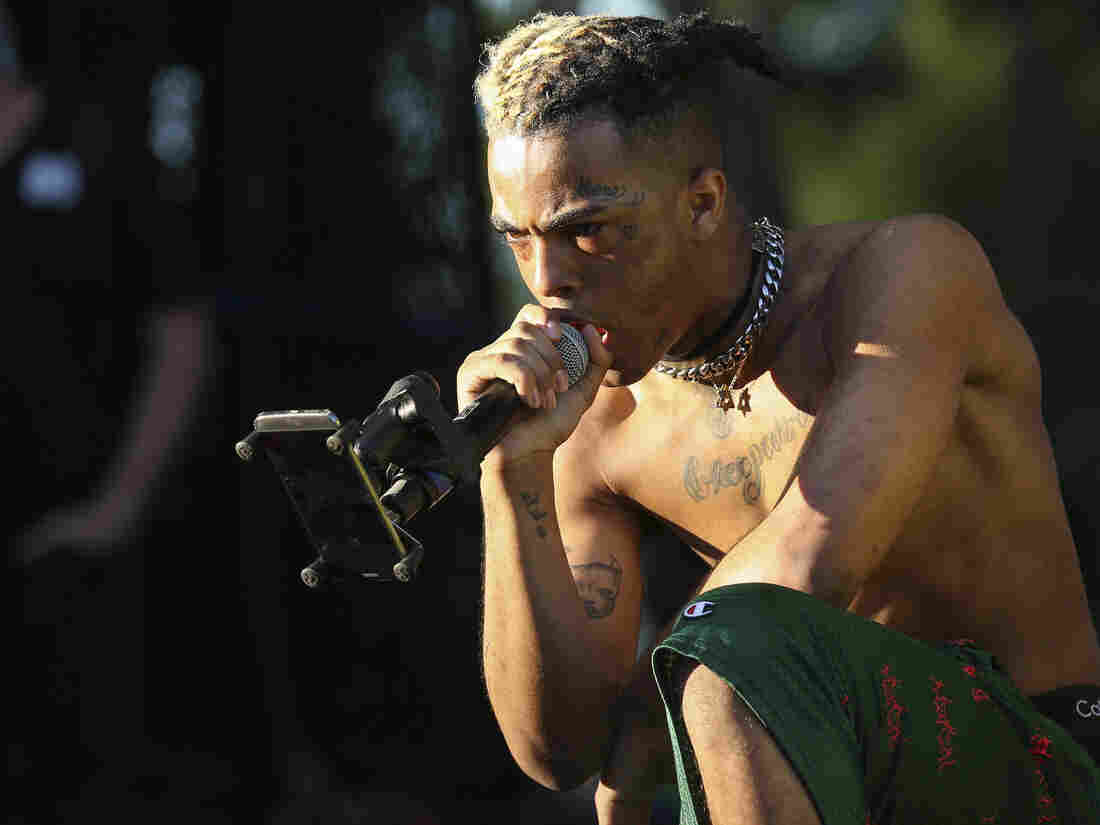 XXXTentacion performs during the Rolling Loud Festival in Miami in 2017.