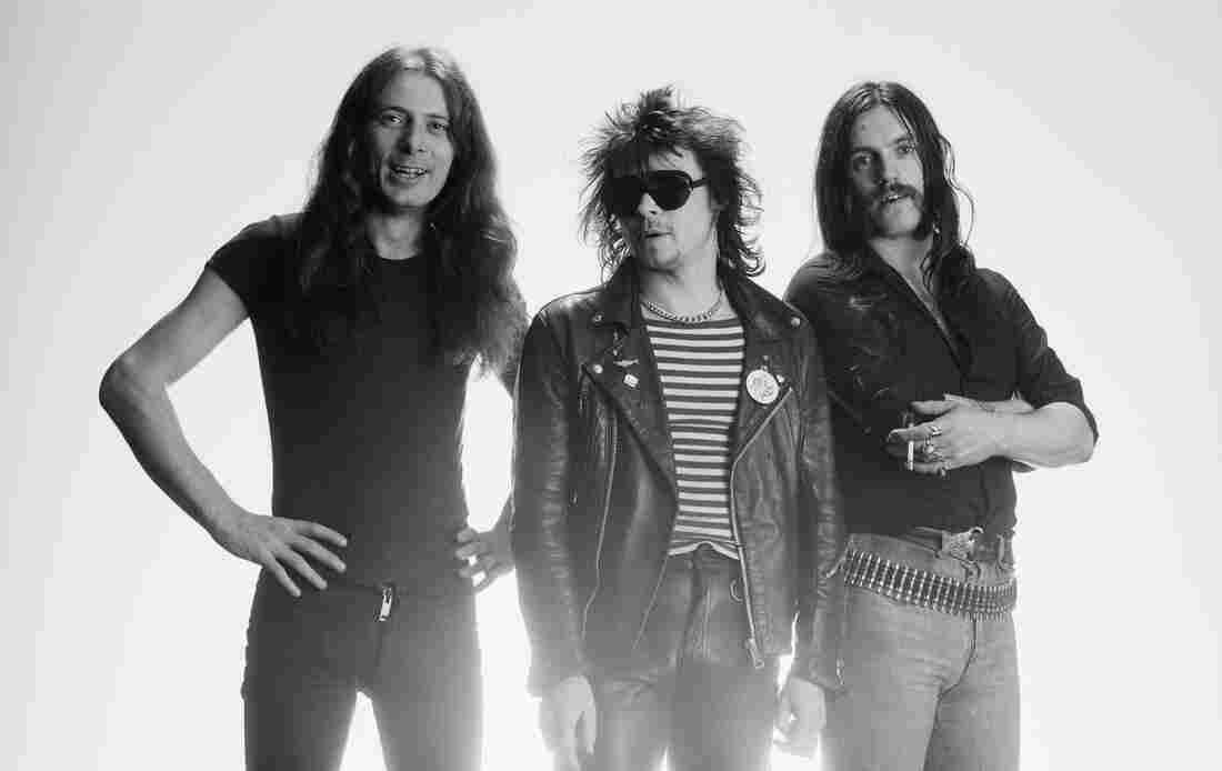 """Fast"" Eddie Clarke (left) with Motörhead circa 1978."