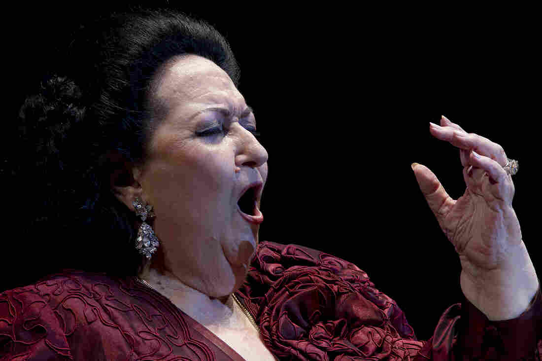 Montserrat Caballé onstage in Spain in 2012.