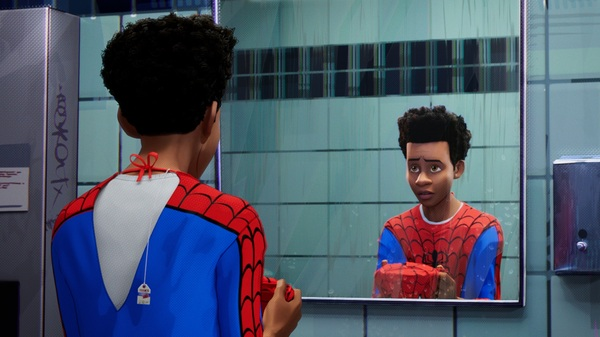 The Afro-Latino Brooklynite Miles Morales is one of many characters who don the mask in the 2018 film Spider-Man: Into The Spider-Verse.