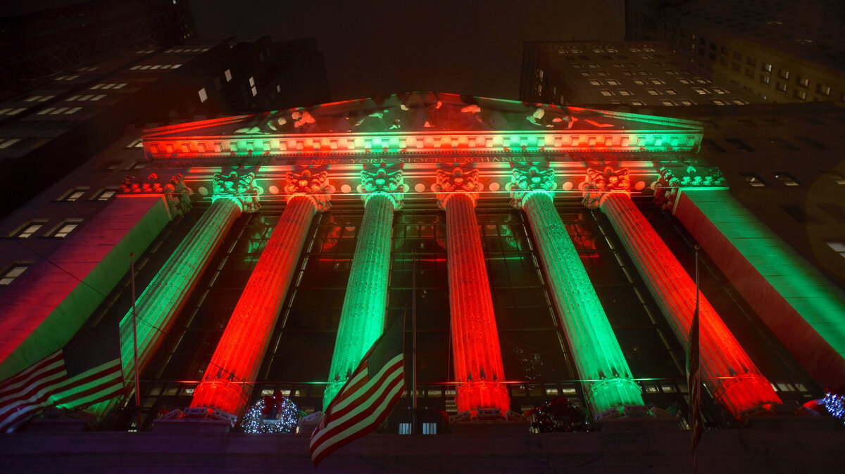 NY Stock Exchange on Xmas Eve, 2018