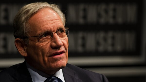 Bob Woodward, pictured in 2012, describes a sense of chaos within the Trump administration in his 2018 book, Fear.