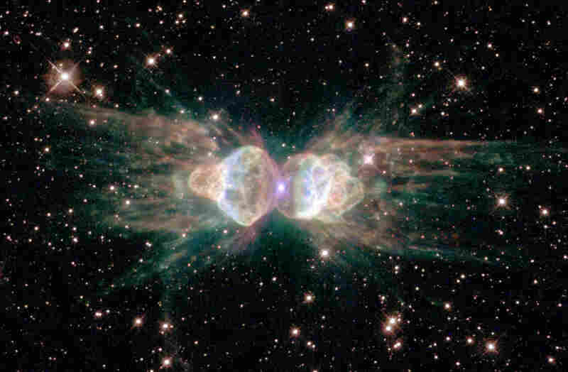 "This image, released Feb. 1, 2001, shows a dying star in the so-called ""ant nebula."""