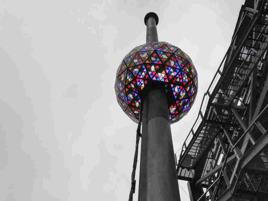 Organizers test the Times Square Crystal Ball before Midnight