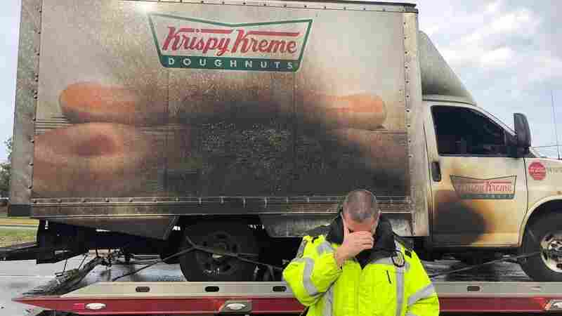 Kentucky Police Escort Fresh Doughnuts After Krispy Kreme Truck Fire