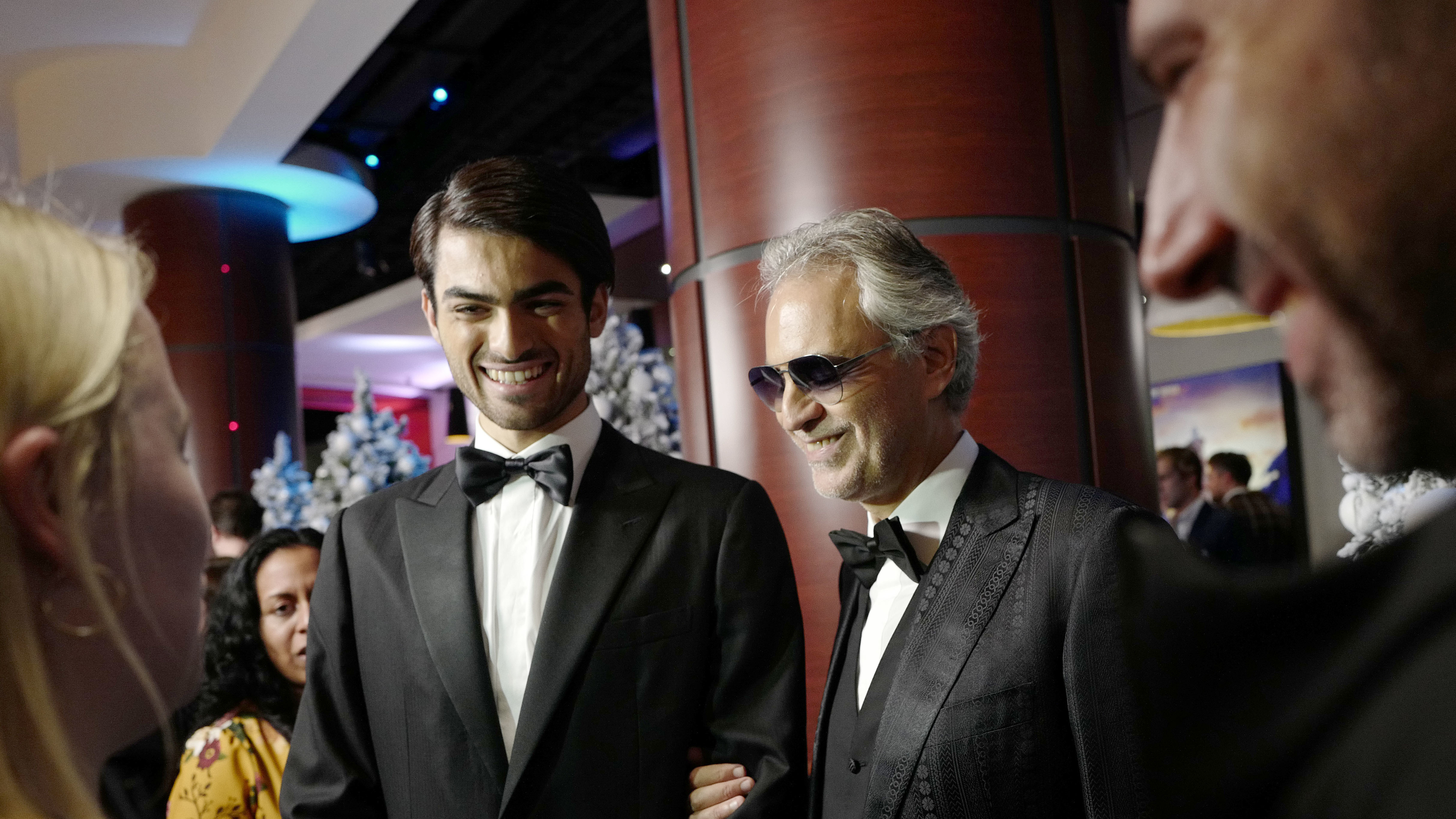 Andrea Bocelli Passes The Art Of Expressive Singing To His Son