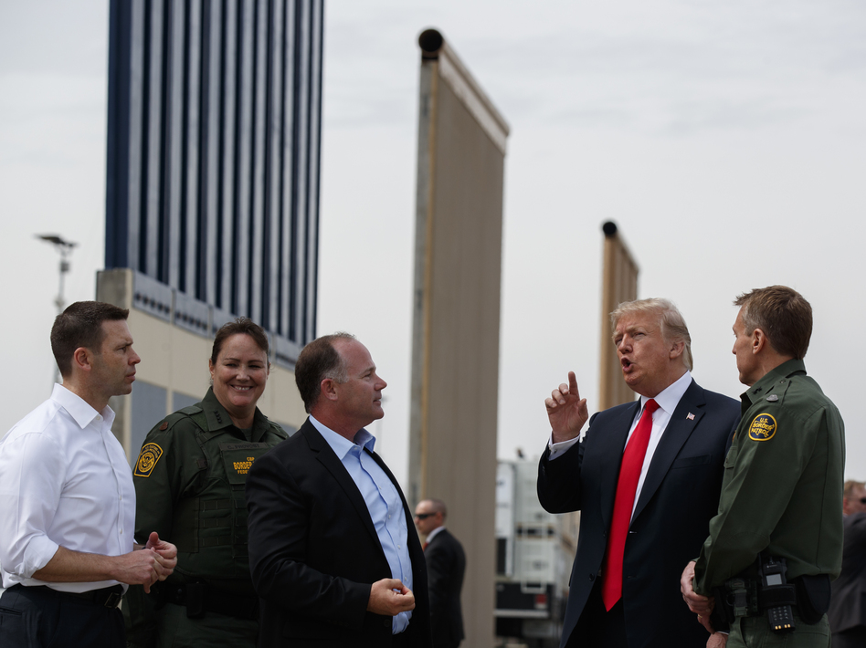 While President Trump continues his fight for border wall funding, the E-Verify system that employers use to ensure employees are U.S. citizens sits idle. (Evan Vucci/AP)