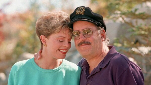 """Toni Tennille, left, and """"Captain"""" Daryl Dragon, of the singing duo The Captain & Tennille, pose during an interview at their home in Nevada in 1995."""