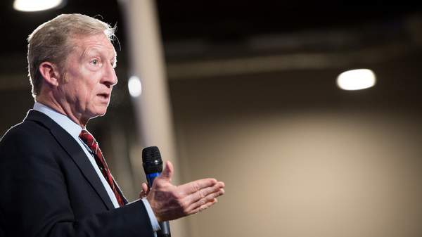 Billionaire Tom Steyer hosts a town hall discussion in South Carolina, an early-primary state. Steyer, who has built an anti-Trump reputation, is weighing a bid for the presidency.