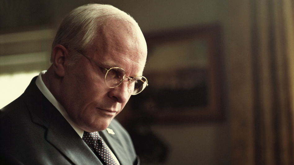 Christian Bale stars as Dick Cheney in <em>Vice</em>. The film, which was written and directed by Adam McKay, has been nominated for six Golden Globe Awards. (Greig Fraser/Annapurna Pictures)