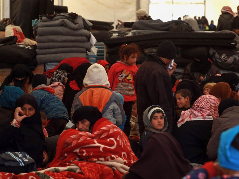 We Were Eating Grass': Syrians Flee As Fight Pushes On