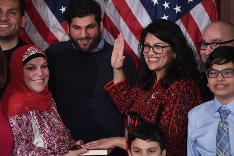 fa8a1dc61 Congresswoman Tlaib Inspires Palestinian-Americans With A Dress And A  Hashtag