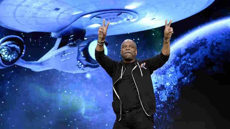 LeVar Burton attends a Ubisoft news conference about the new video game Star Trek: Bridge Crew VR